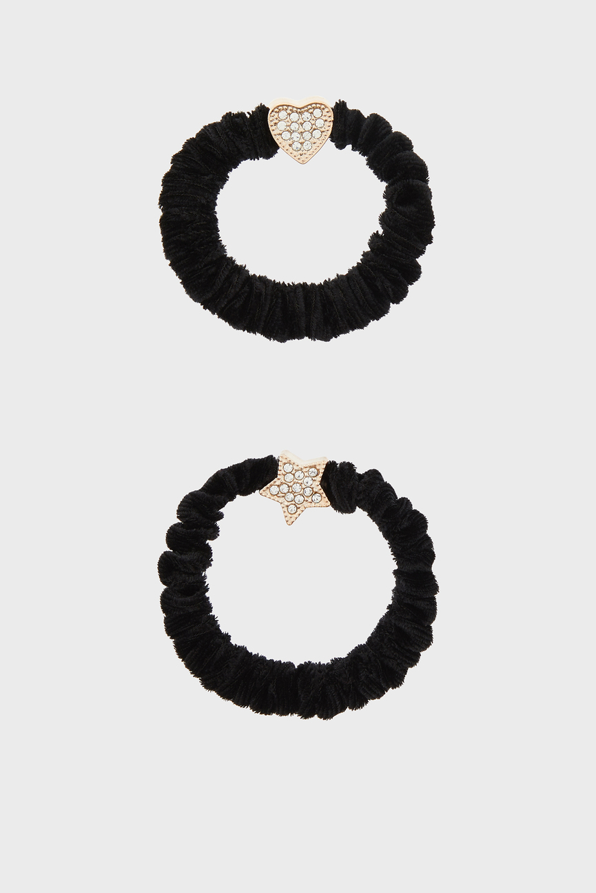 Набор женских черных резинок для волос BLING (2 шт)