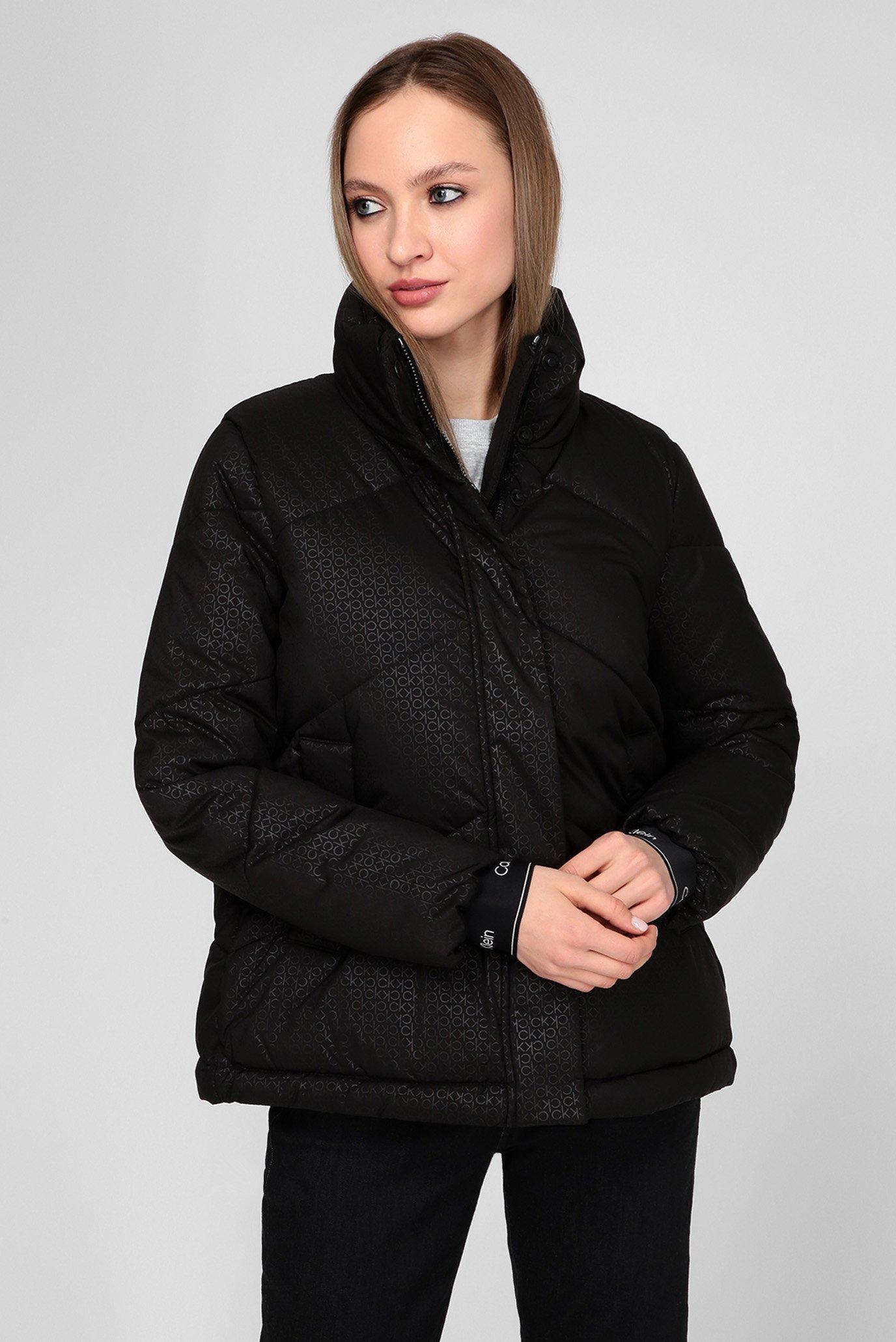 Женская черная куртка LS MONOGRAM JACKET 1