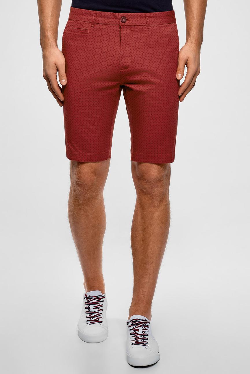 Мужские красные шорты с узором