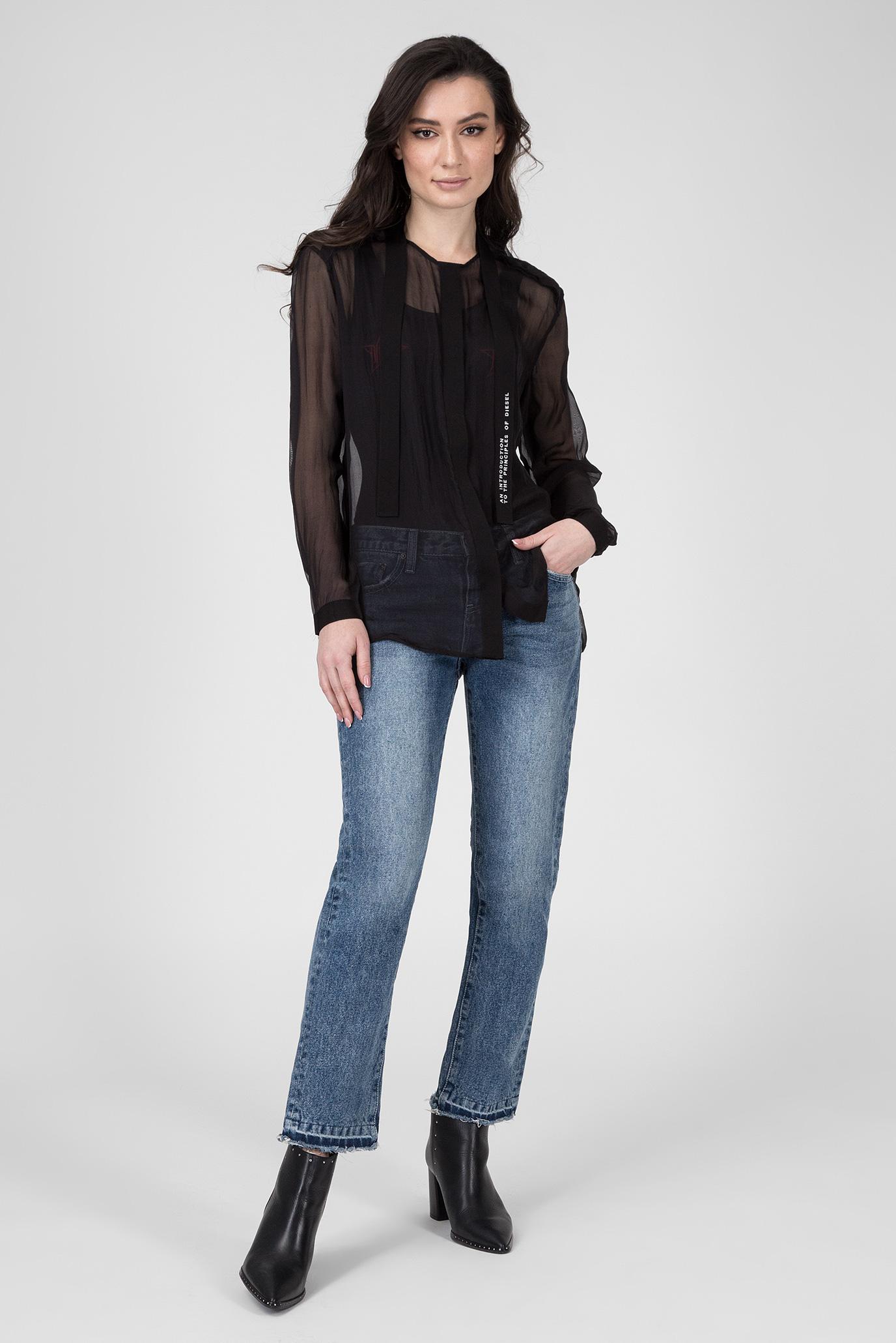 Купить Женская черная блуза C-SAKURA-A  Diesel Diesel 00SPCG 0JATW – Киев, Украина. Цены в интернет магазине MD Fashion