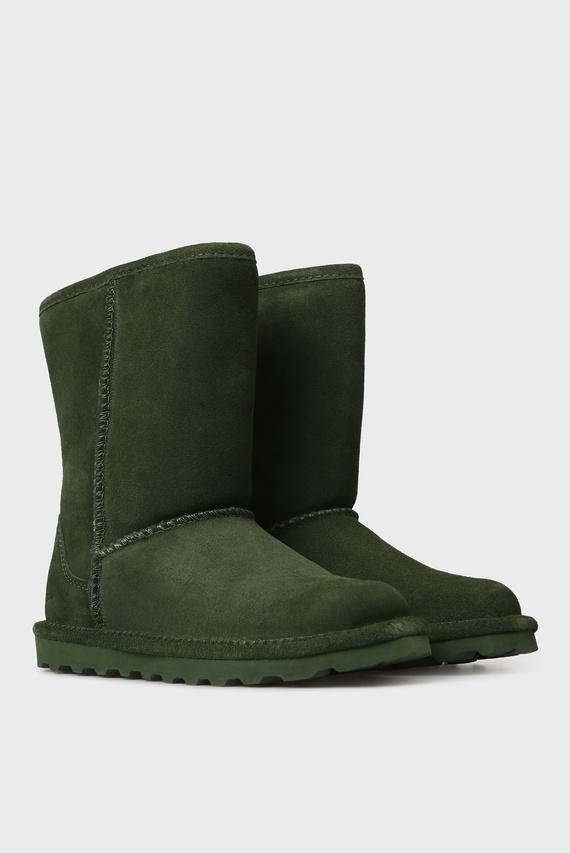 Женские зеленые замшевые угги ELLE