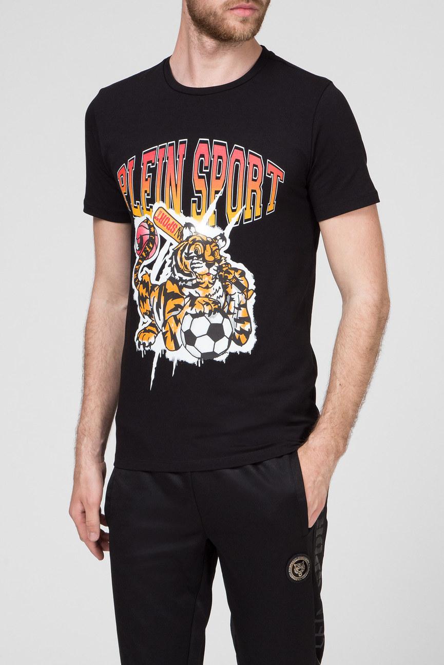 Мужская черная футболка TIGER