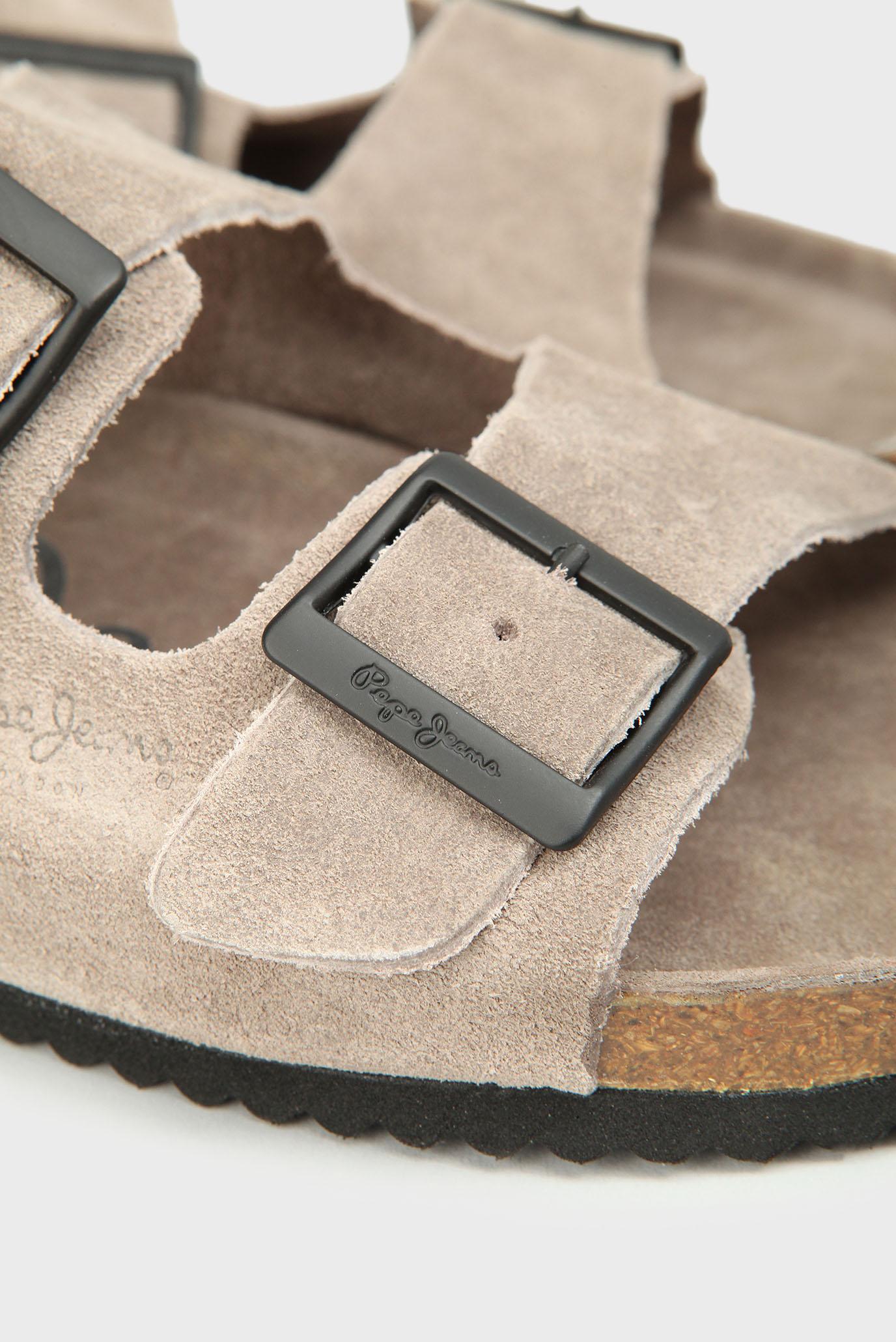 Купить Мужские бежевые замшевые слайдеры  Pepe Jeans Pepe Jeans PMS90053 – Киев, Украина. Цены в интернет магазине MD Fashion