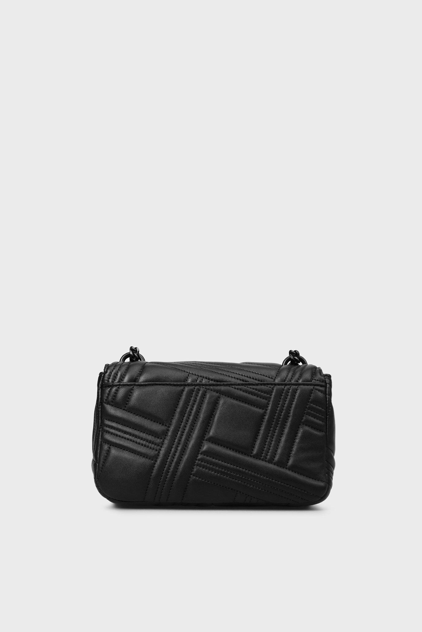 824b276fb3dc купить женская черная кожаная сумка через плечо Dkny Dkny R833b638