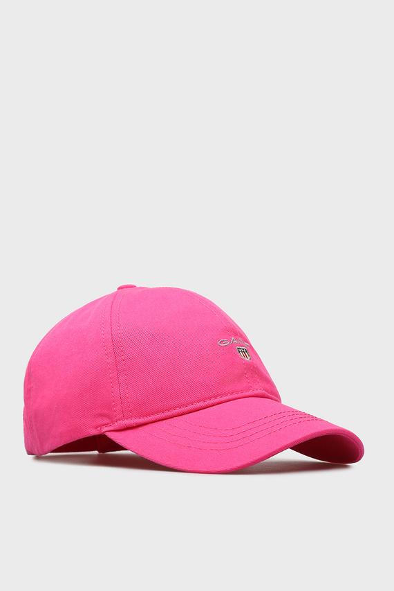 Женская розовая кепка