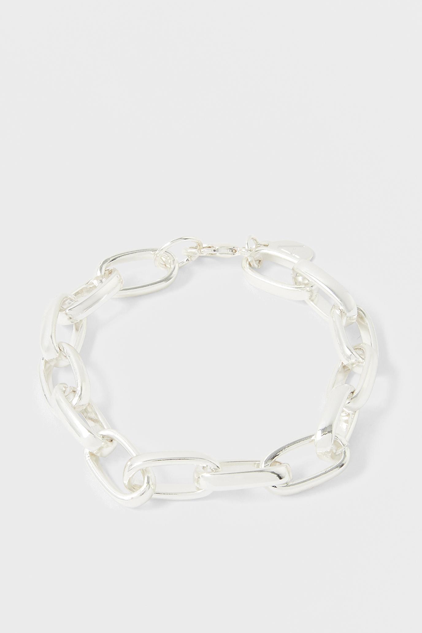 Жіночий сріблястий браслет SIMPLE MEDIUM CHAIN 1