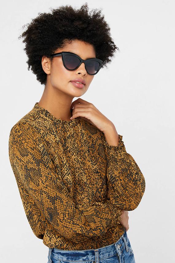 Женские черные очки AVA CLASSIC CAT EYE