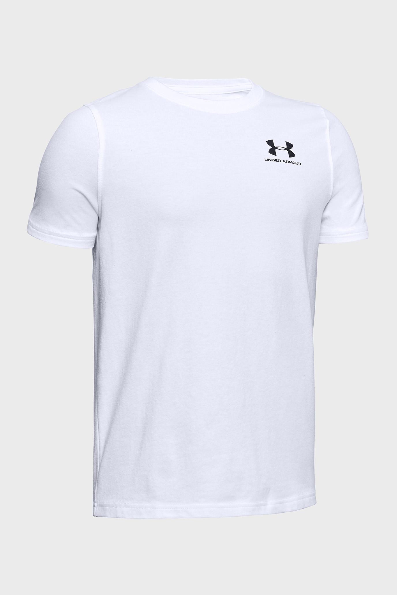 Купить Детская белая футболка UA Cotton SS Under Armour Under Armour 1347096-100 – Киев, Украина. Цены в интернет магазине MD Fashion