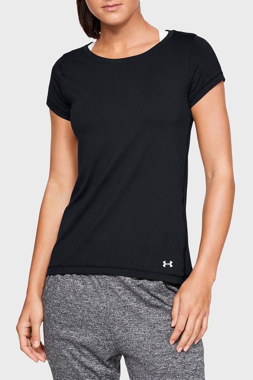 Женская черная футболка UA HG Armour SS