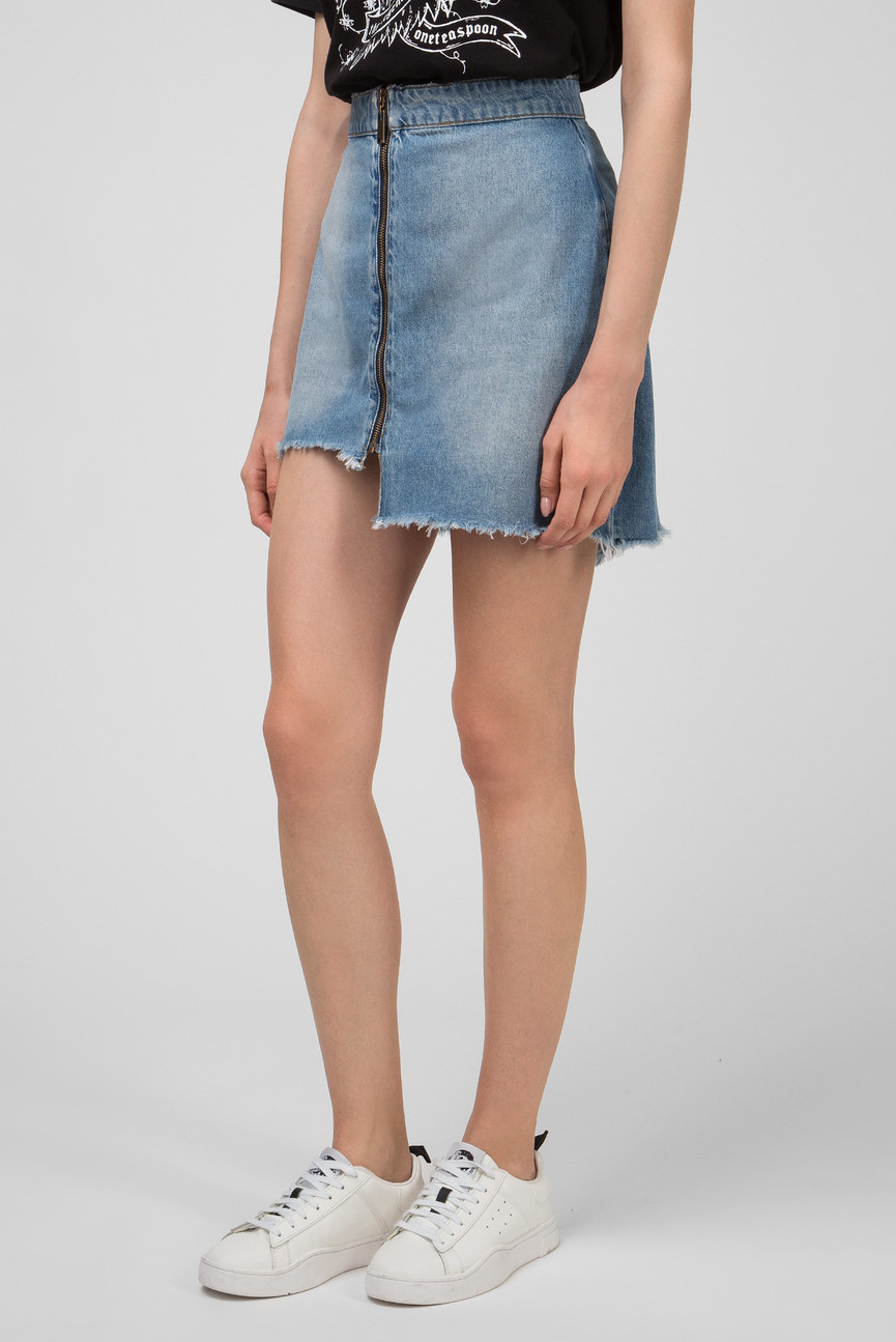 Женская голубая джинсовая юбка HOLLYWOOD