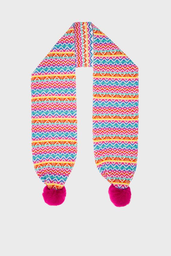 Детский розовый шарф FUN BRIGHT FAIRISLE
