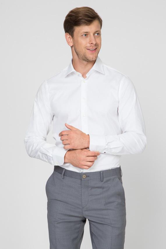 Мужская белая рубашка LUXURY TWILL SLIM SHIRT