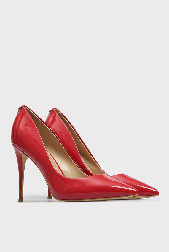 Женские красные кожаные лодочки OKLEY6
