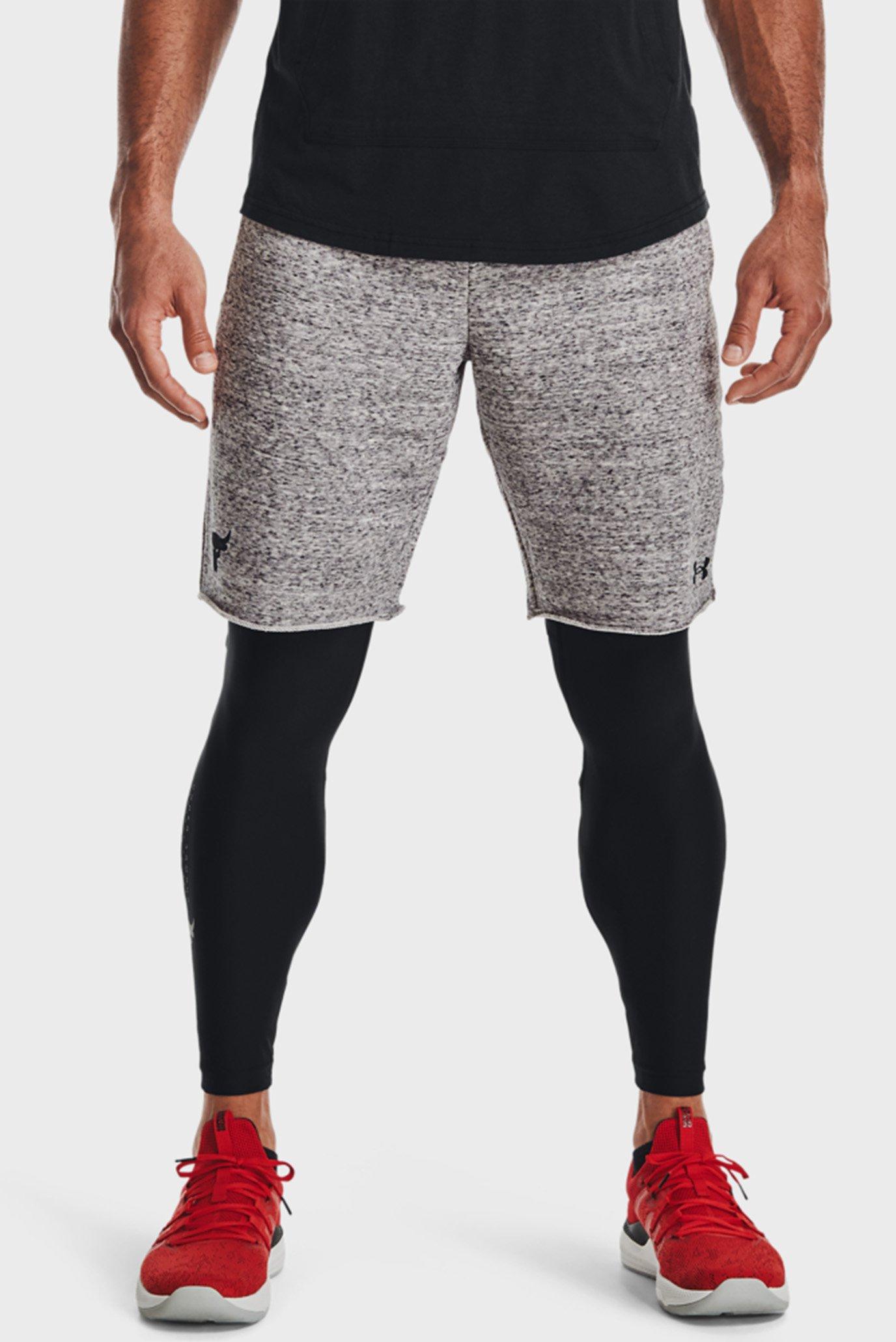 Мужские серые шорты UA Project Rock Terry Shorts 1