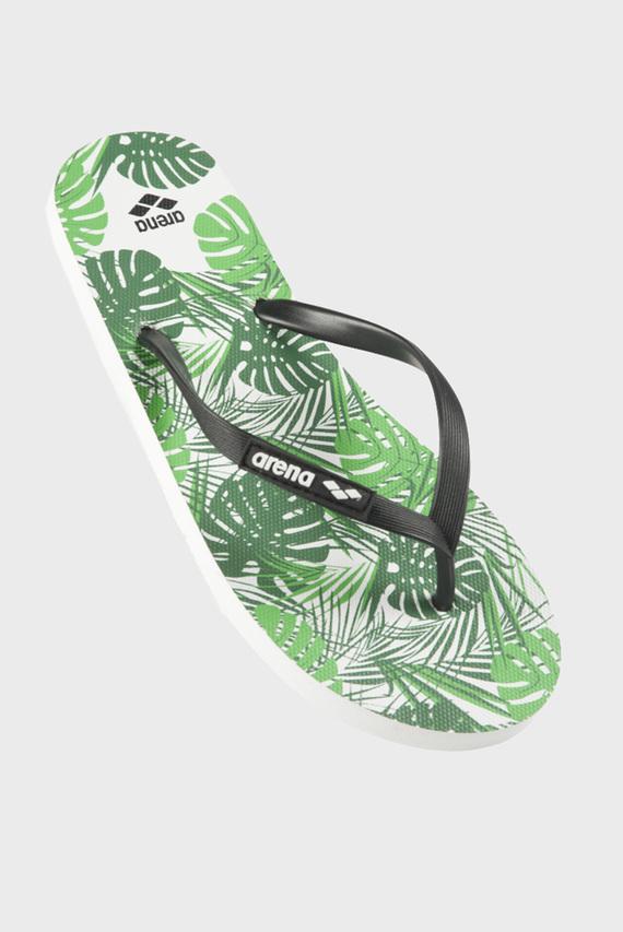 Зеленые вьетнамки для бассейна и пляжа BEACH FLIP FLOP FUN