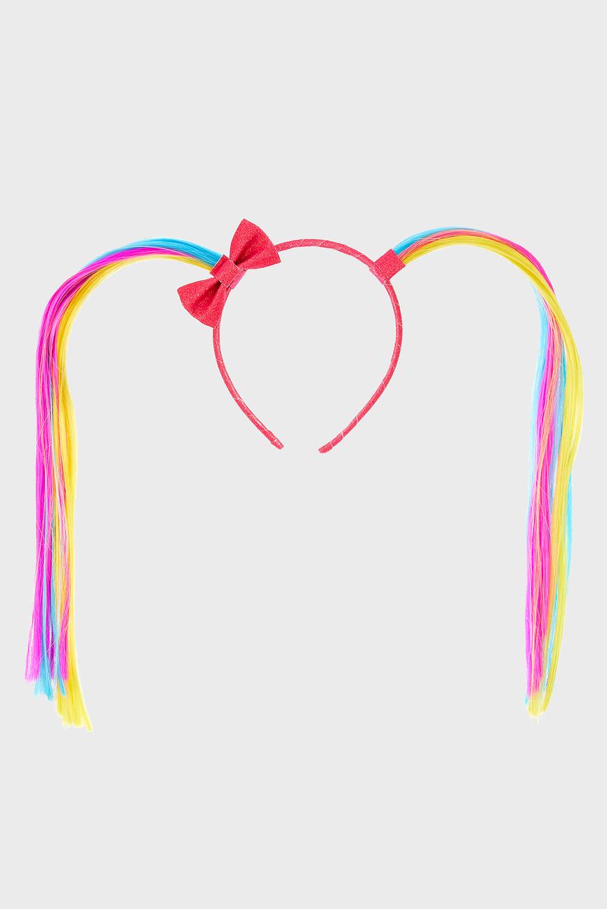 Детский розовый обруч FAKE HAIR BUNCHIES A