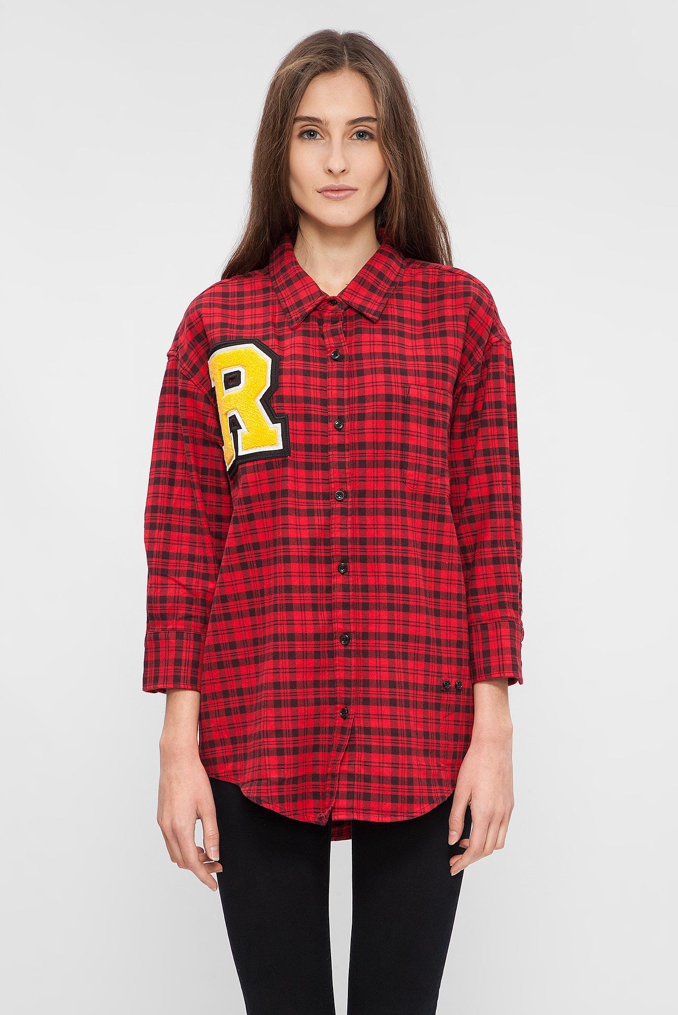 65dfcfa9777 Купить Женская красная рубашка в клетку Replay Replay W2944 .000.51976 –  Киев
