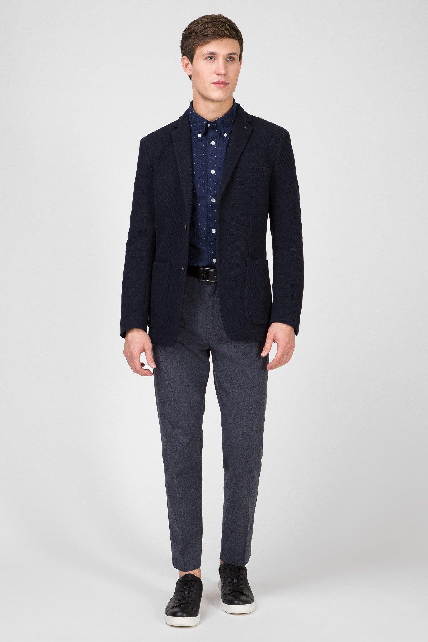Мужская темно-синяя рубашка BUTTON DOWN FIL COUPE Calvin Klein