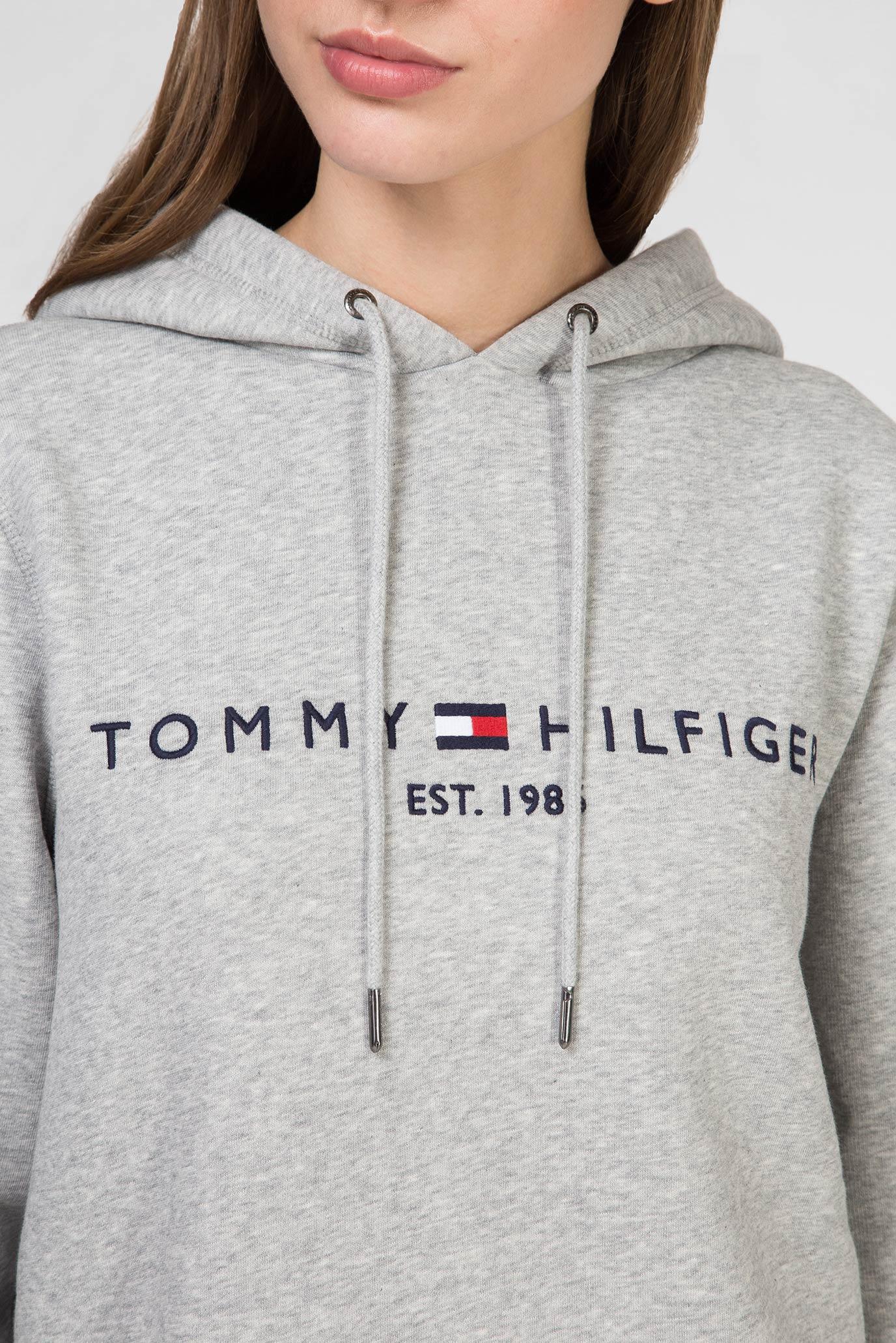 Женское серое худи TH ESS Tommy Hilfiger