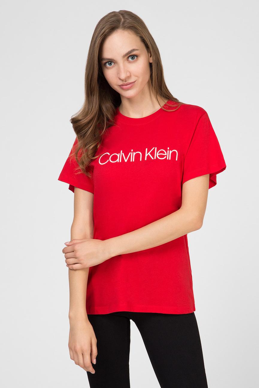 Женская красная футболка CORE LOGO