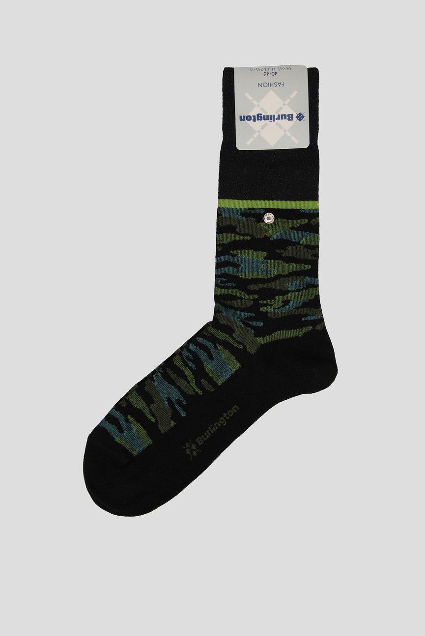 Мужские черные высокие носки