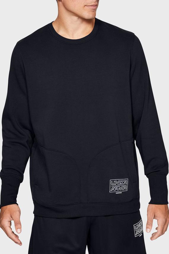 Мужской черный свитшот UA BASELINE FLEECE CREWNECK-BLK