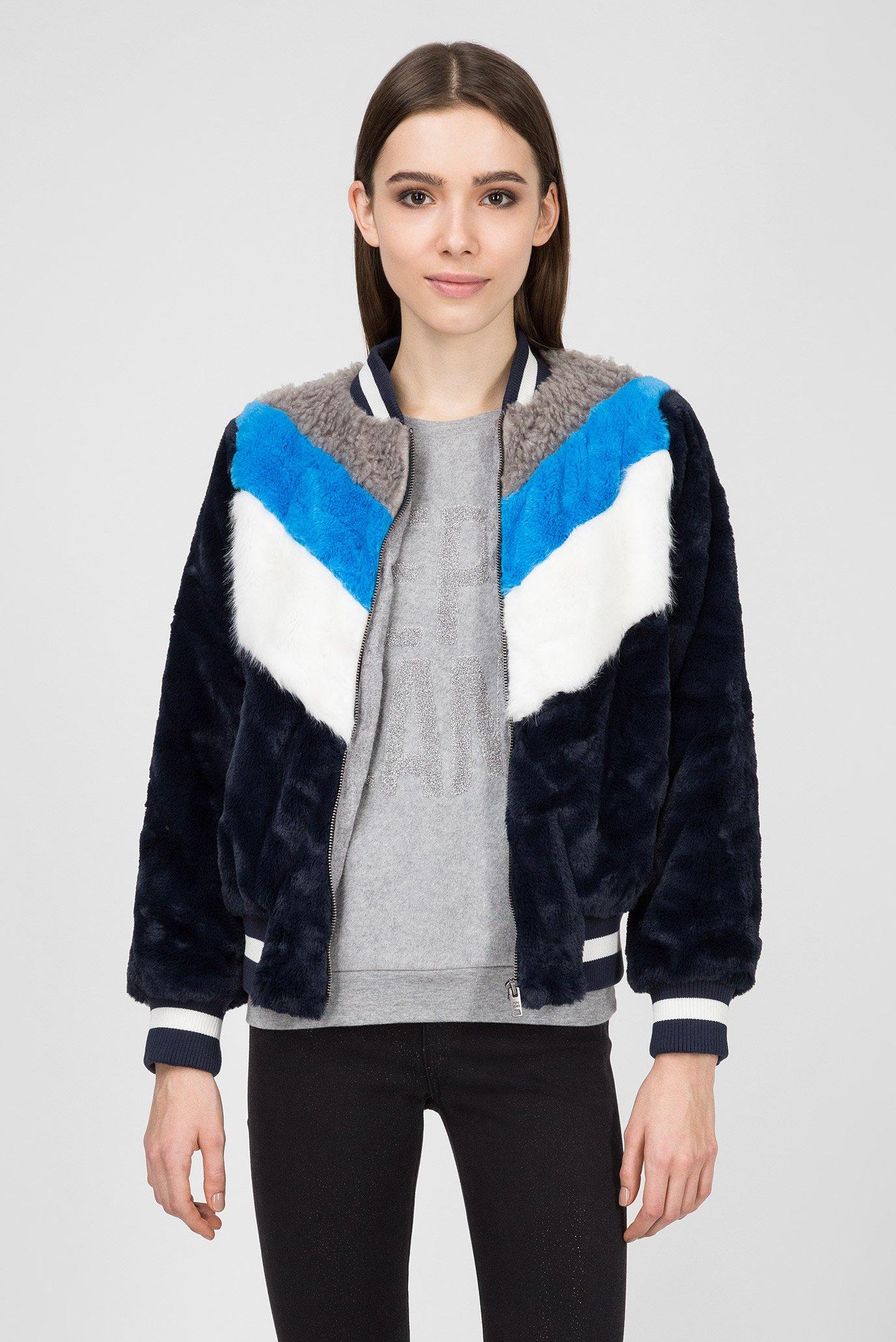 Купить Женский темно-синий меховой бомбер HEBE Pepe Jeans Pepe Jeans PL401536 – Киев, Украина. Цены в интернет магазине MD Fashion