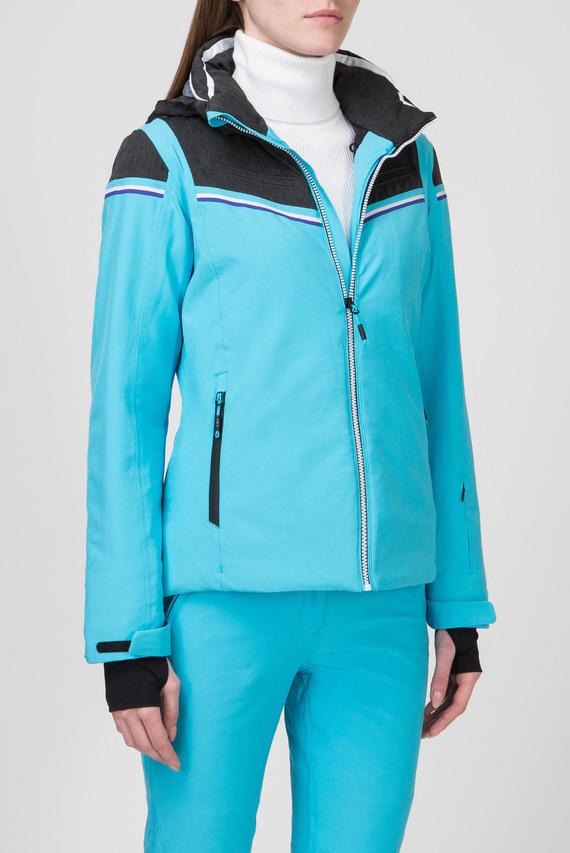 Женская голубая лыжная куртка