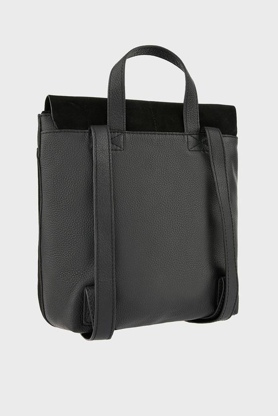 Женский черный рюкзак Leather Suede Maud B