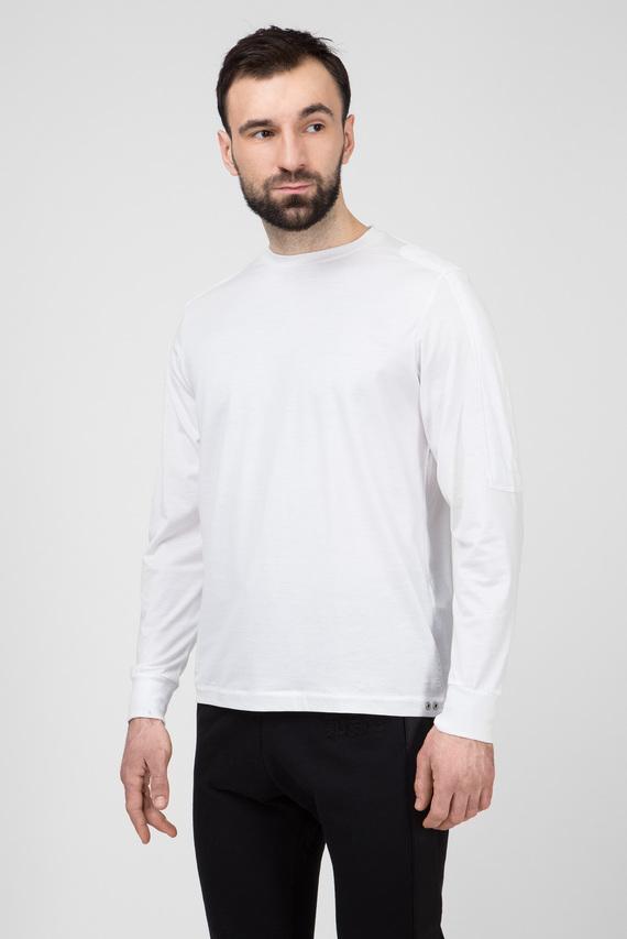 Мужской белый лонгслив T-SADAO-LS