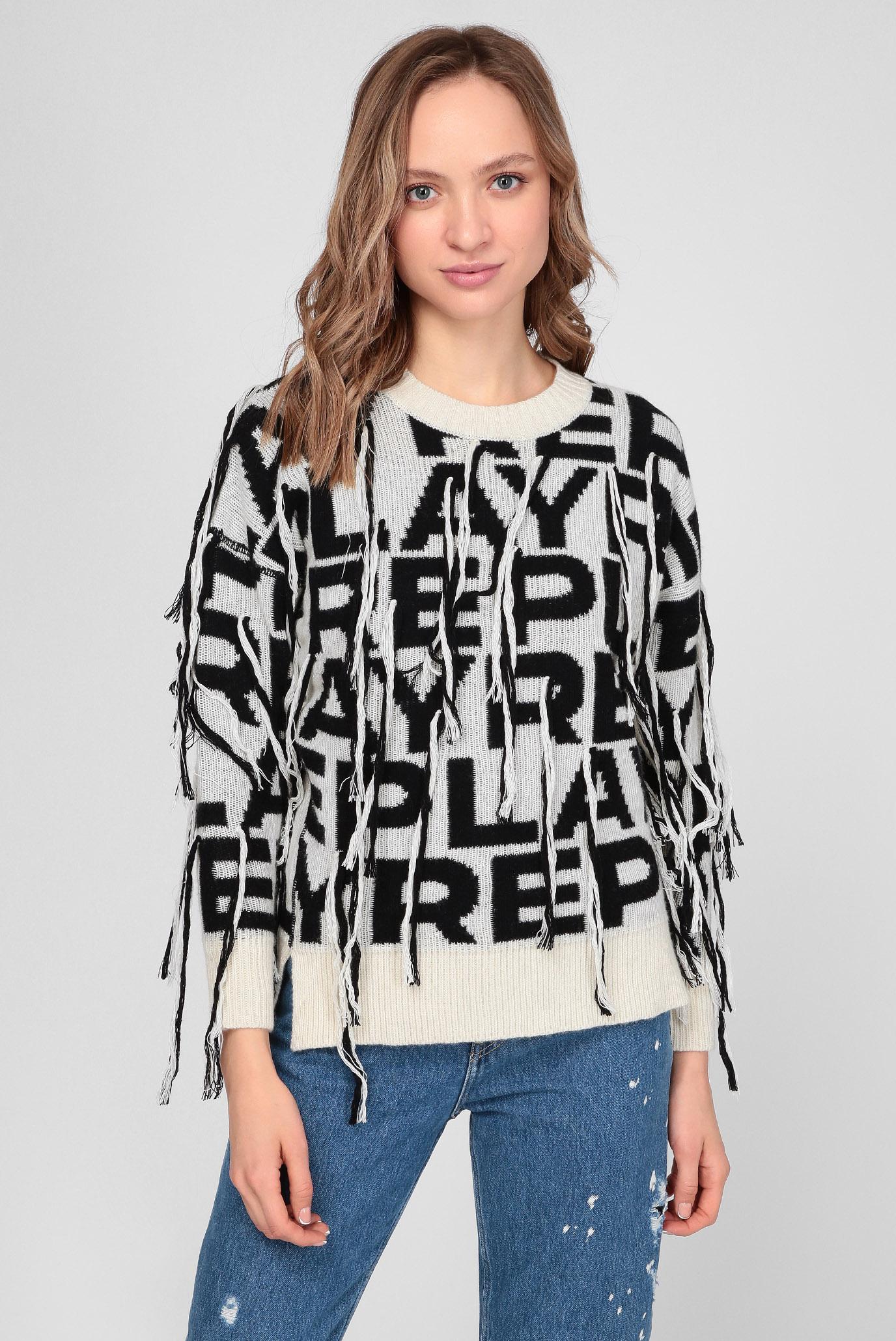 Жіночий вовняний светр з візерунком 1
