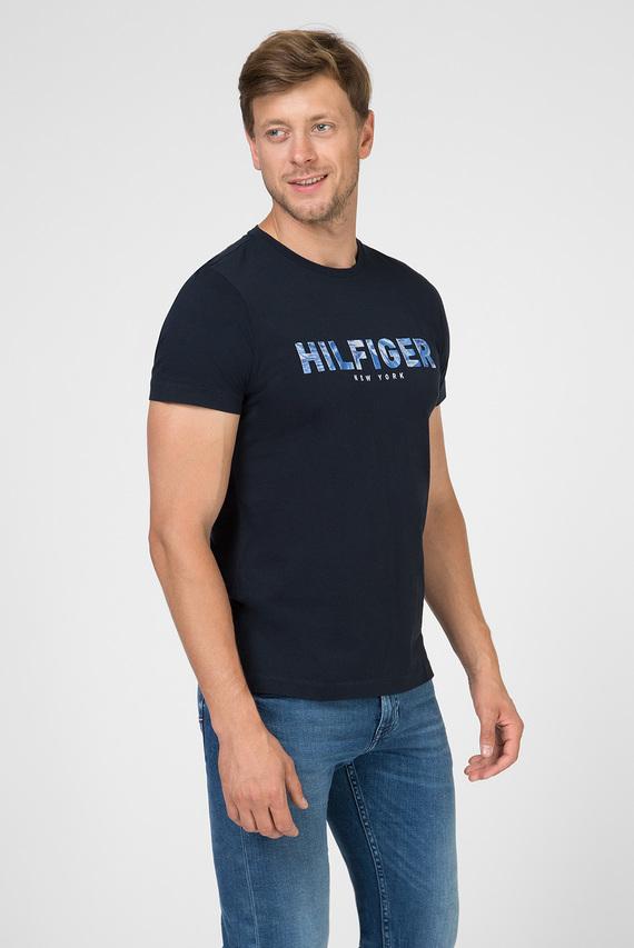 Мужская темно-синяя футболка HILFIGER APPLIQUE TEE