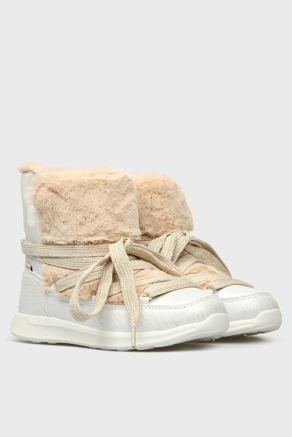 Детские серебристые ботинки