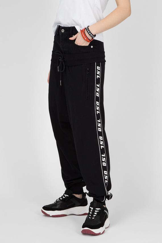 Женские черные спортивные брюки M-SUIT-A