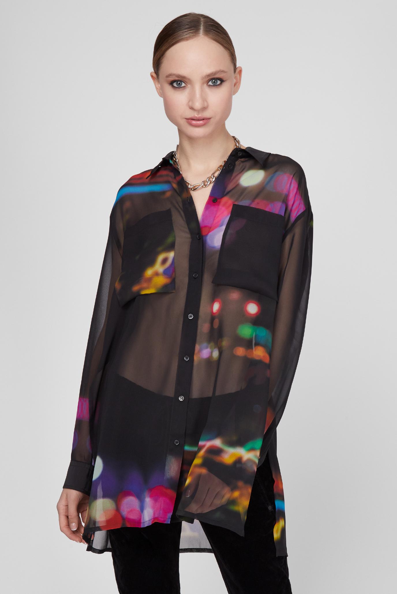 Женская черная блуза C-ELSIE SHIRT 1