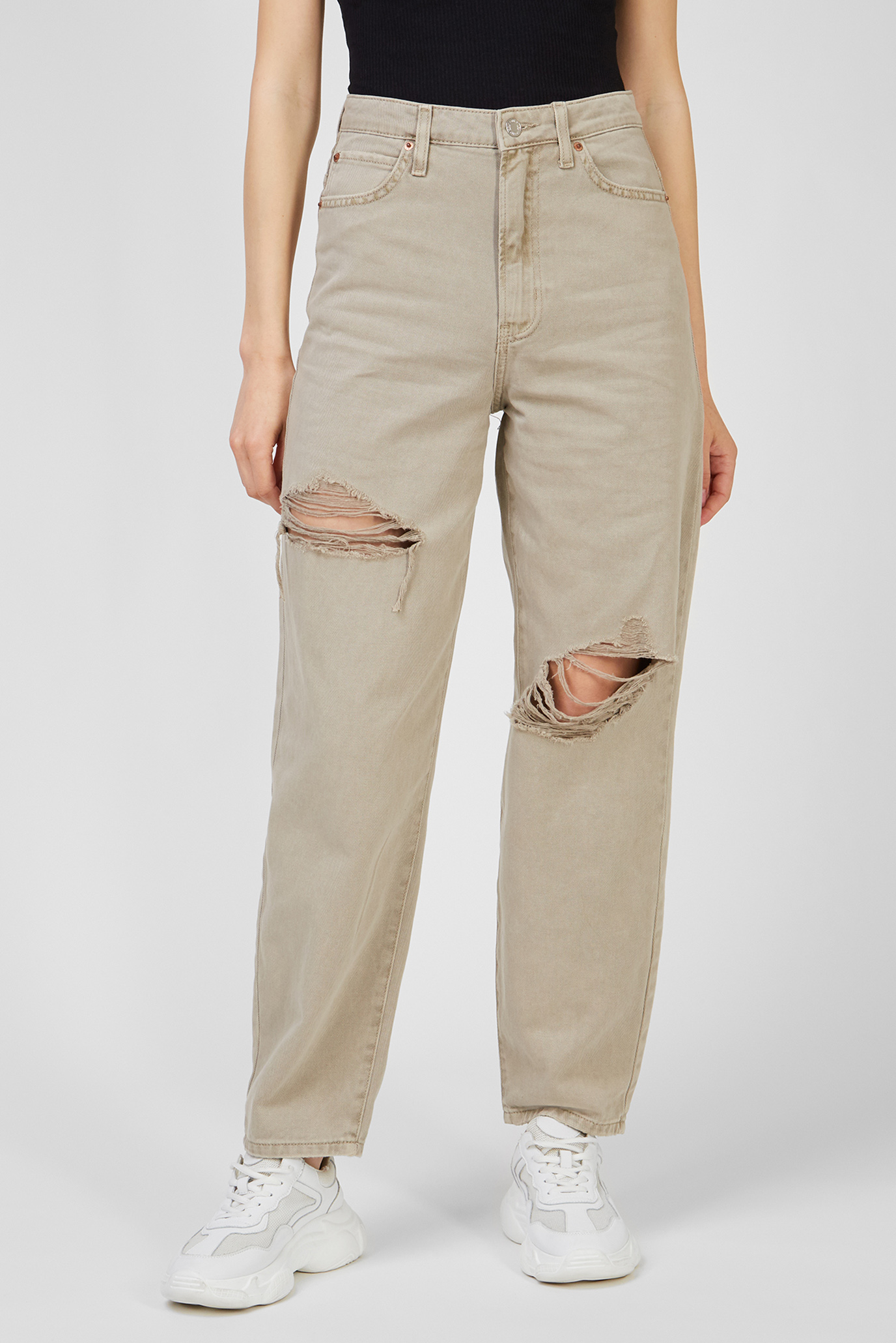 Женские бежевые джинсы 1