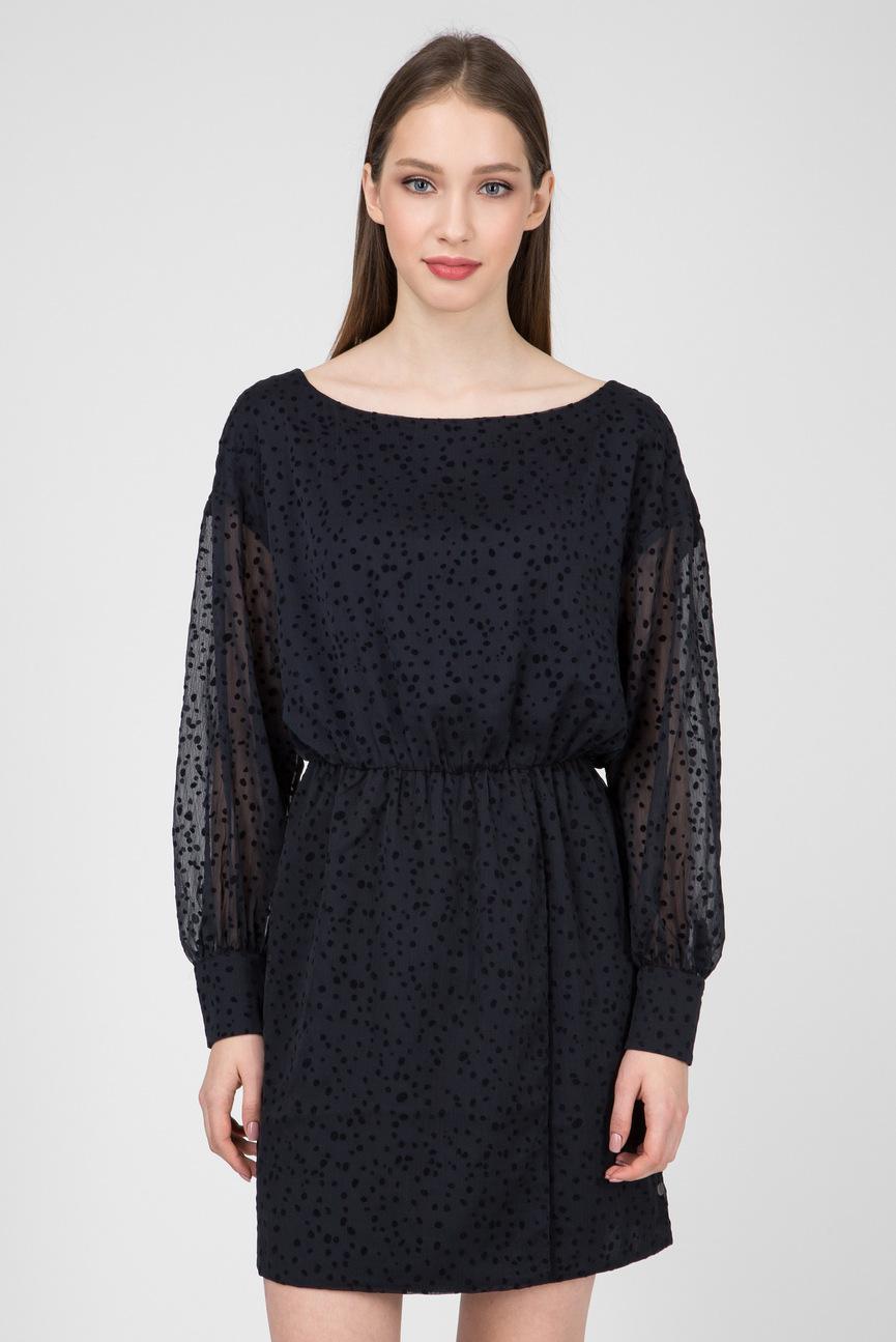 Женское темно-синее платье CAMILA