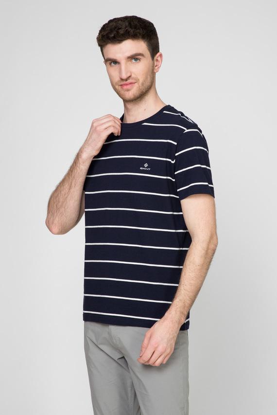 Мужская темно-синяя футболка в полоску BRETON STRIPE