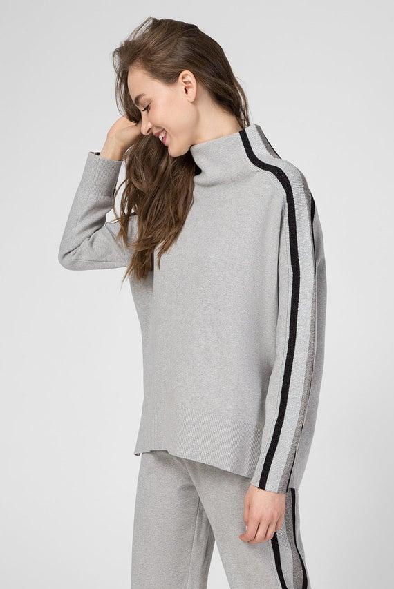 Женский серый свитер CACIE MOCK-NK