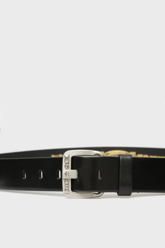 Мужской черный кожаный ремень H5908