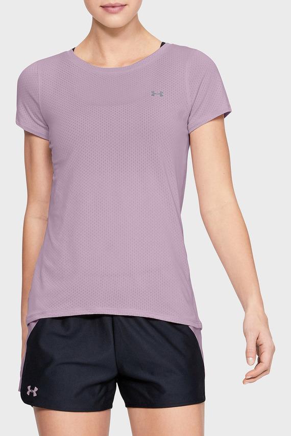Женская сиреневая футболка UA HG Armour SS-PNK