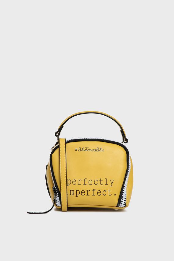 Женская желтая сумка через плечо PERFECT
