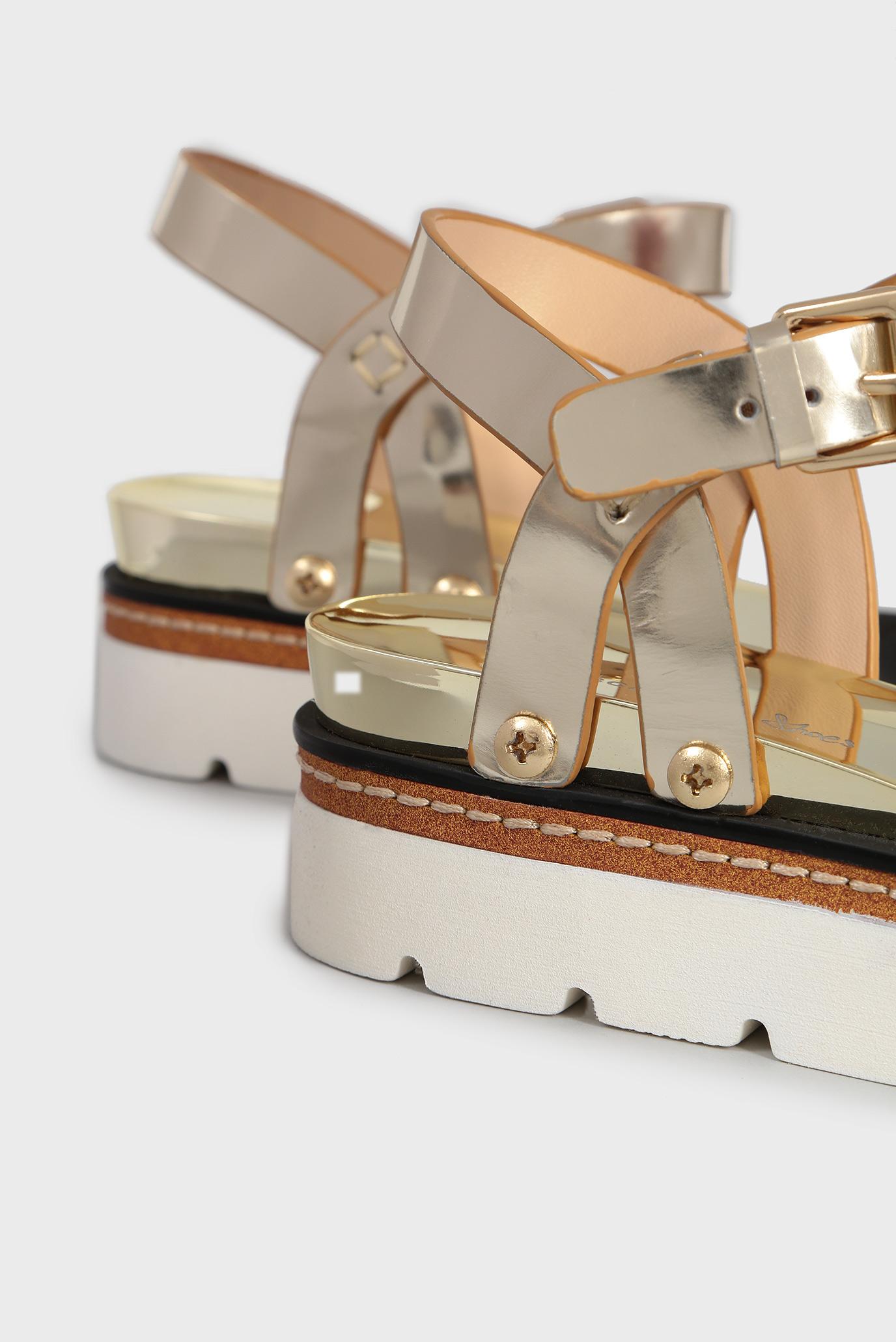 Купить Женские золотистые кожаные сандалии Tosca Blu  Tosca Blu  SS1816S305 – Киев, Украина. Цены в интернет магазине MD Fashion
