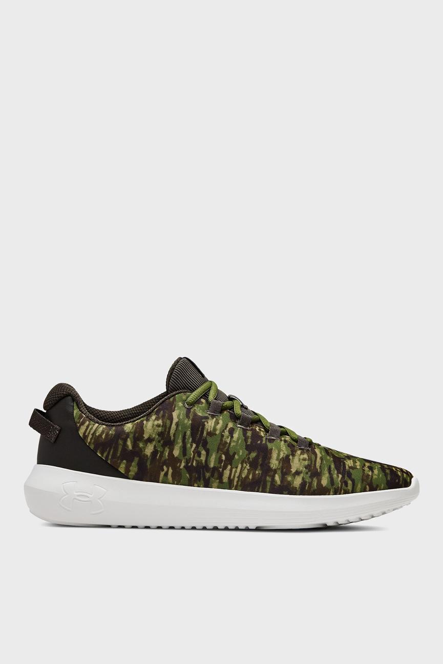 Мужские зеленые кроссовки UA Ripple NM PRNT
