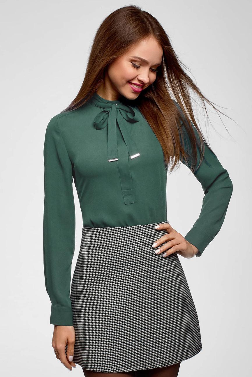 Женская зеленая блуза