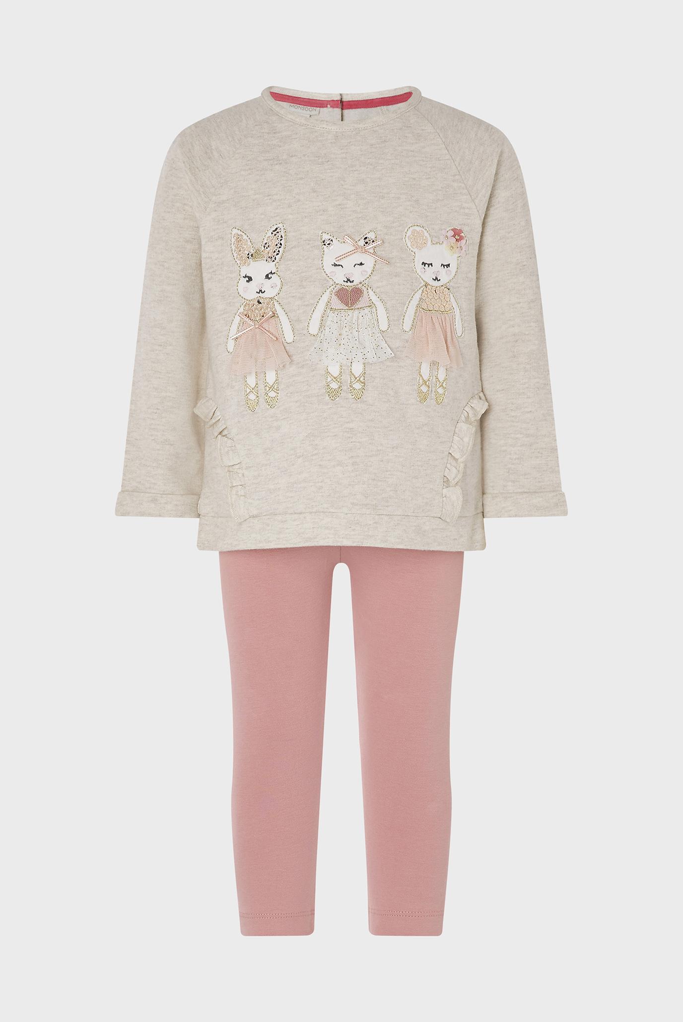 Детский комплект одежды (лонгслив, леггинсы) OATMEAL BABY MICE SE 1