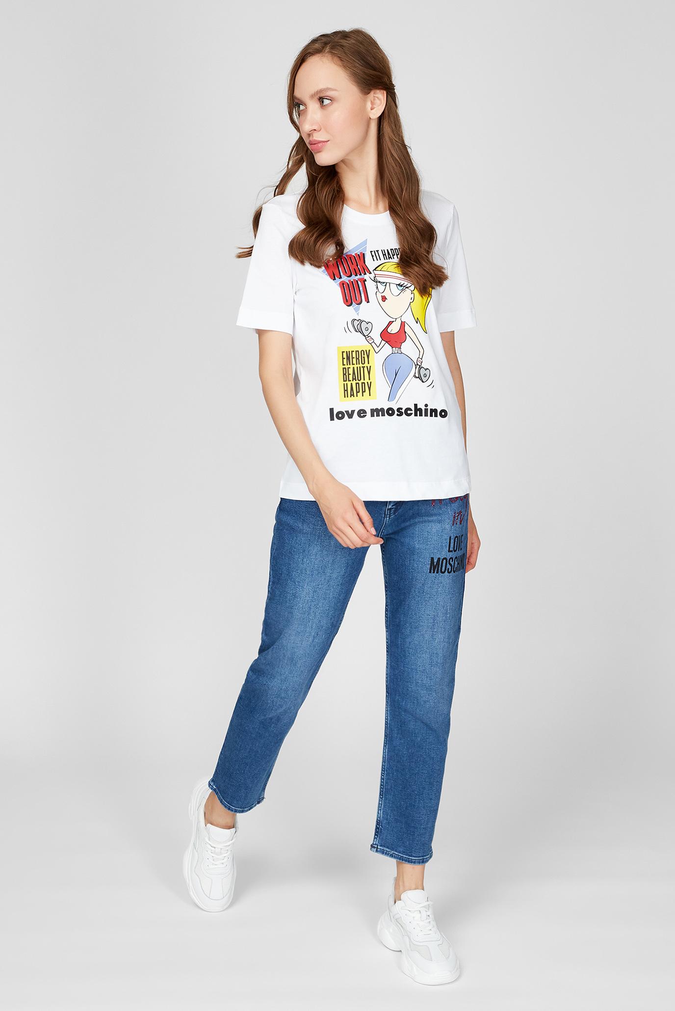 Женские синие джинсы Love Moschino