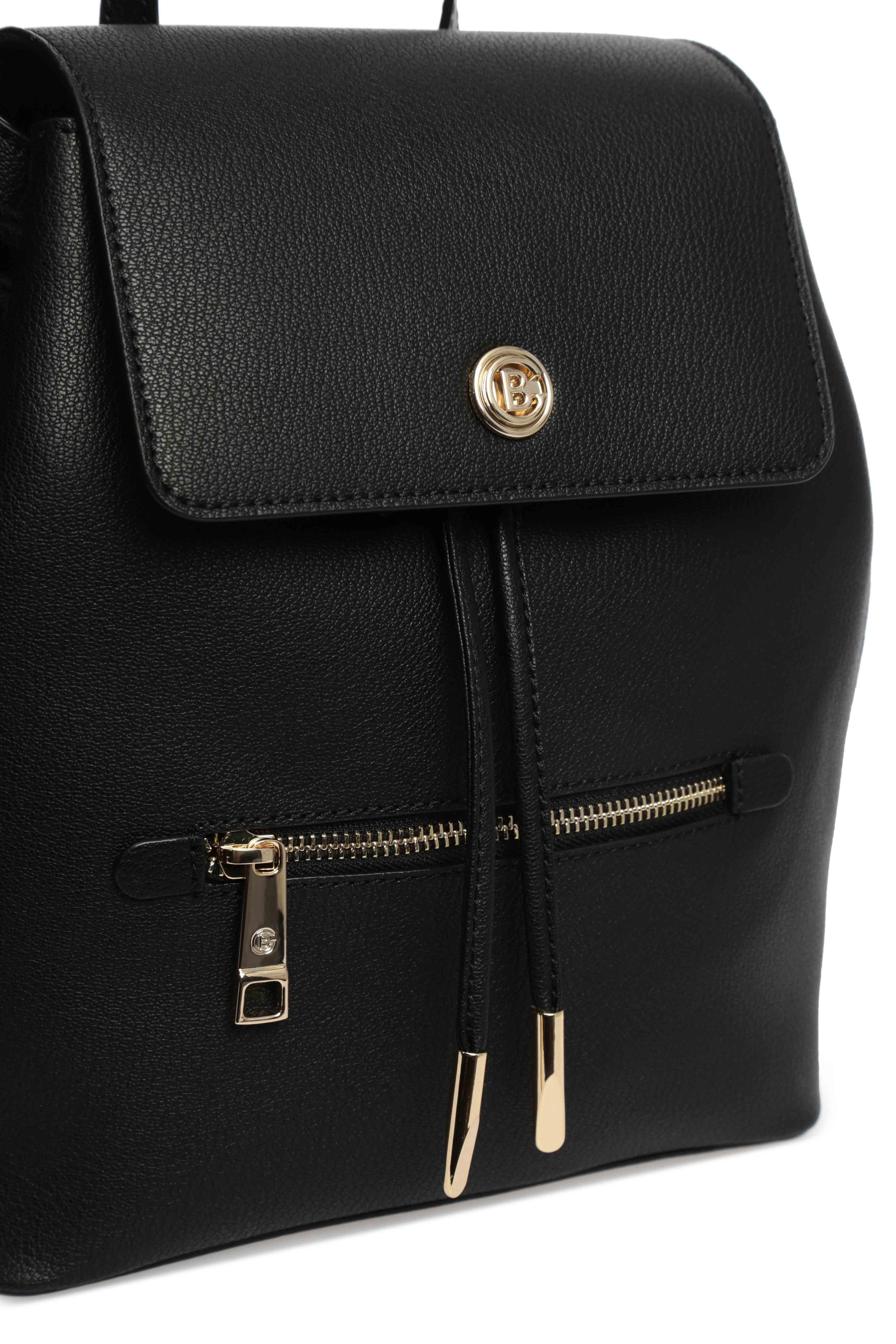 Женский черный кожаный рюкзак Baldinini