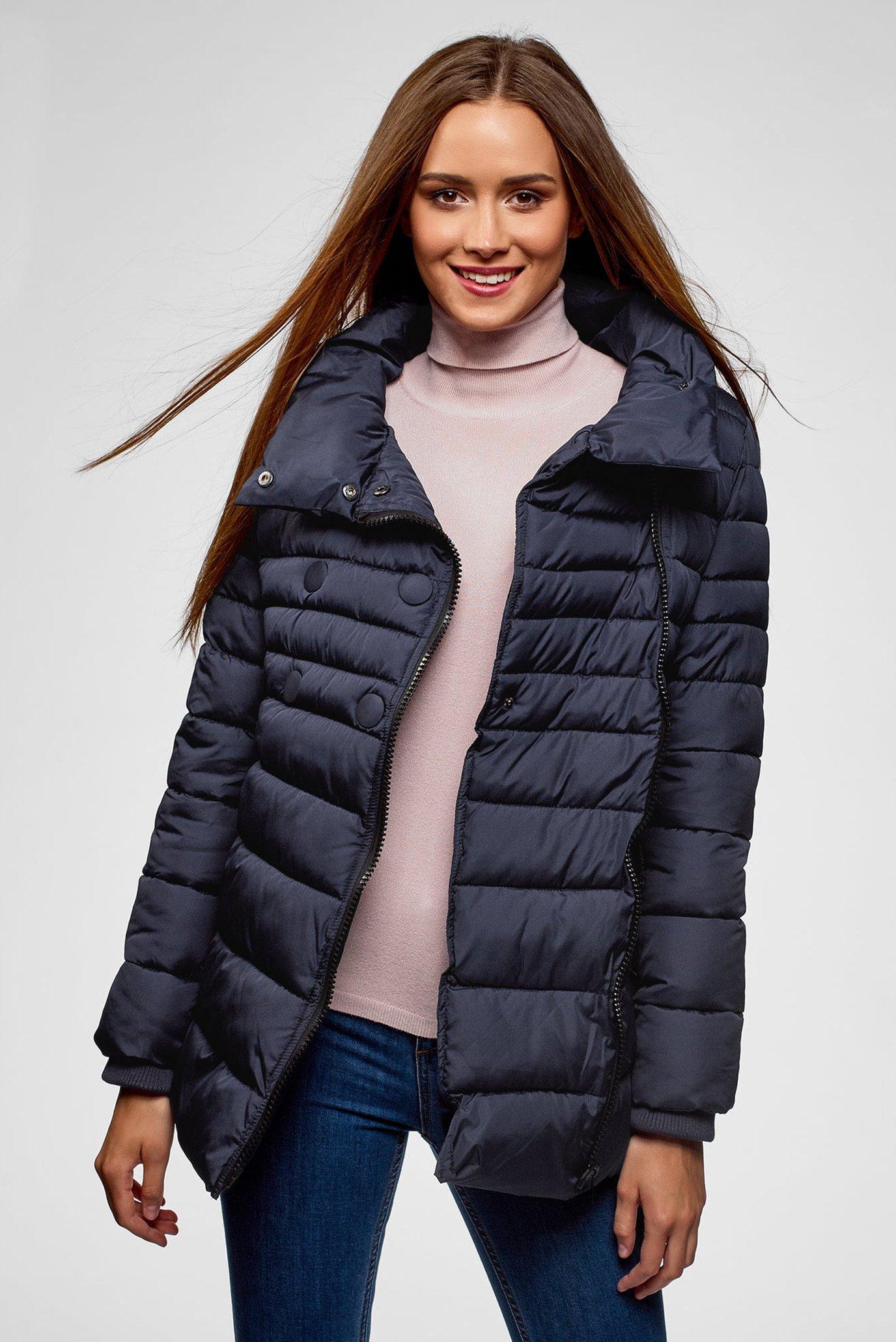 Купить Женская темно-синяя куртка Oodji Oodji 10201032-2B/32754/7900N – Киев, Украина. Цены в интернет магазине MD Fashion