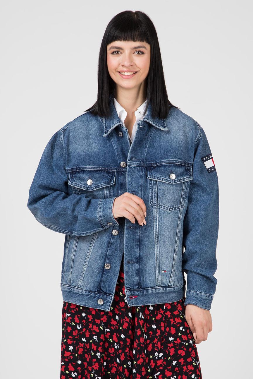 Женская синяя джинсовая куртка TJW OVERSIZED TRUCKER